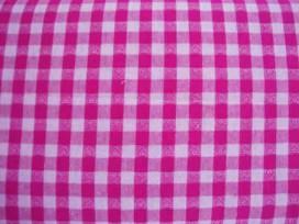 BB ruit 10x10mm. Pink met hartjes 5638-17N