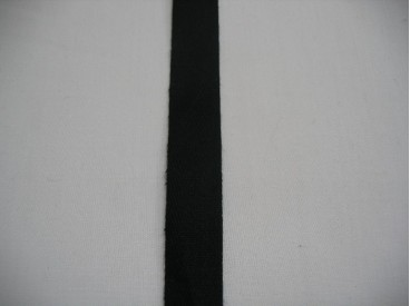 Keperband 1,5 cm. zwart