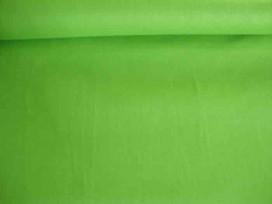 Katoen stof effen Lime