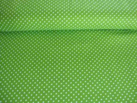 Mini stip katoen Lime/wit 5575-24N