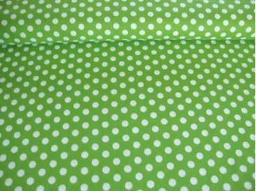 Middelstip katoen Lime/wit 5576-24N