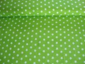 Sterretje katoen Lime/wit 1266-24N