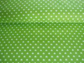 Mini hartje katoen Lime/wit 1264-24N