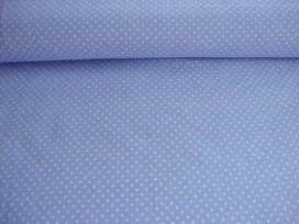 Mini stip katoen Lichtblauw/wit 5575-2N