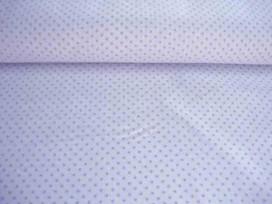 Mini stip katoen Wit/lichtblauw 5579-2N