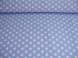 Middelstip katoen Lichtblauw/wit 5576-2N