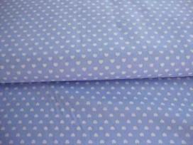 Mini hartje katoen katoen Lichtblauw/wit 1264-2N