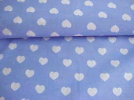 Hartje katoen Lichtblauw/wit 1265-2N