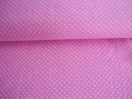 Mini stip katoen Roze/wit 5575-11N
