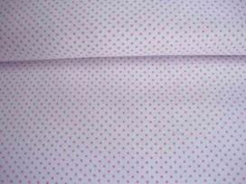 Mini stip katoen Wit/roze 5579-11N