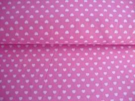 Mini hartje katoen Roze/wit 1264-11N