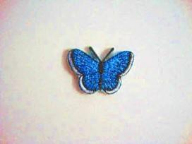 Vlinder applicatie Aqua glitter 3 cm. 30567-3S