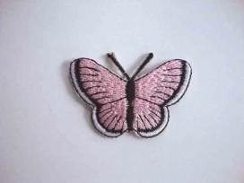 Vlinder applicatie Roze 5 cm.