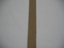 Keperband 15mm donker beige