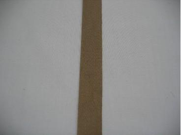 Keperband 1.5cm. donker beige
