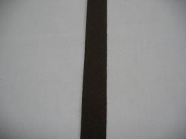 Keperband 1.5cm. donker bruin