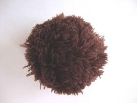 3d Pom Pom 7 cm. Donkerbruin 66664