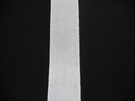 Keperband Wit  3cm breed