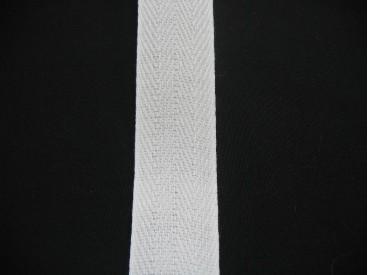 Keperband 3cm. wit