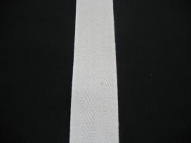 Keperband 3cm. Ecru Katoen