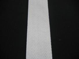Keperband 4cm. wit
