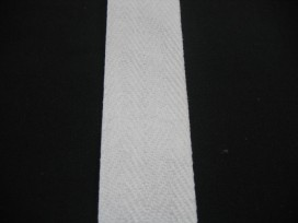 Wit keeperband. 100% katoen 4cm. breed