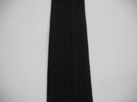 Zwart keeperband 100% katoen 4cm. breed