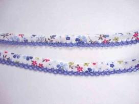 4m Biaisband met blue ruche en bloem 61