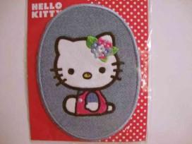 Hello Kitty Ovaal Jeans Zitttend met bloem in haar