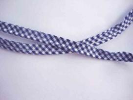 5a Boerenbont paspelband Donkerblauw 1000