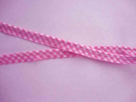 5c Boerenbont paspelband Roze 1002