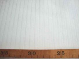 6vl Katoen Offwhite met lengtestreep 997361-2PL