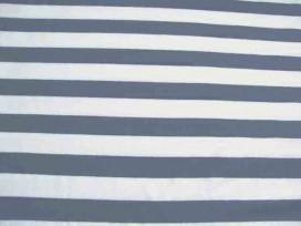 Tricot streep Jeansblauw/wit 2057-6N