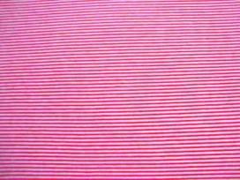 Tricot Streep Oranje/wit Smal 2056-37N