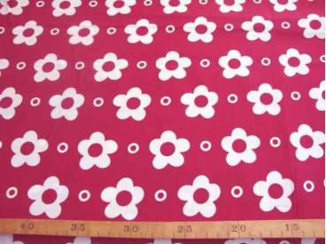 Grote Bloem Wit met cirkel Rood 2145-15N