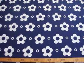 5n Grote Bloem Wit met cirkel Donkerblauw 2145-8N