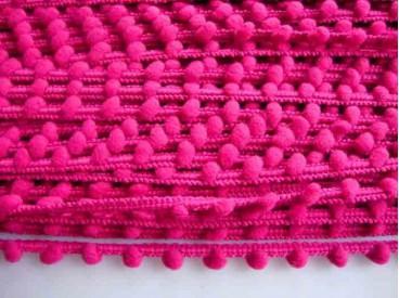 5j Sierband Pom pom mini mini Pink PK-mm