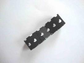 5e Biaisband bundel 2 mtr. Zwart met witte hartjes 1258H