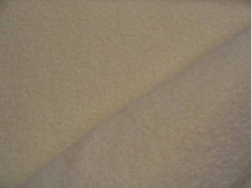 Mooie zware kwaliteit voorgekookte zandkleurige boucle wolvilt.  Rafelt niet. Zeer geschikt voor jasjes.  100% wol  1.45 mtr.br.