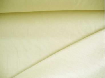 Cremekleurige viscose tricot.  92%visc./8%el.  1.60 mtr.br  225 gr/m²