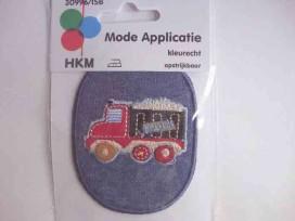 Applicatie jeans ovaal met truck 3045B