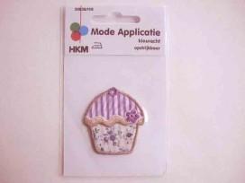 Applicatie Cupcake Paars/wit 1115B