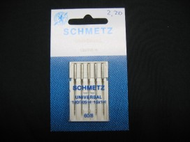 Schmetz naaimachine naalden. Universeel Naalddikte 60 60/08