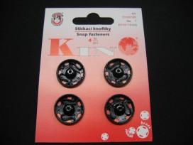 Drukknoop zwart 19mm