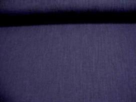 Een donkerblauwe polyester met een geweven linnen struktuur. Een mooie kwaliteit  100% polyester