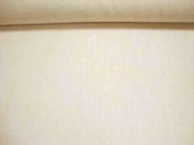 Een creme kleurige polyester met een geweven linnen struktuur. Een mooie kwaliteit  100% polyester