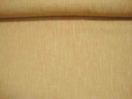 Een camel kleurige polyester met een geweven linnen struktuur. Een mooie kwaliteit.
