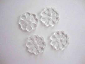 Kinder bloemknoop Wit doorschijnend 25mm. kbk78