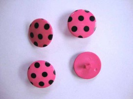 Stipknoop Pink/zwart 22mm. sk222