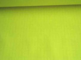 Keperkatoen fluor geel met ruitje 1008P